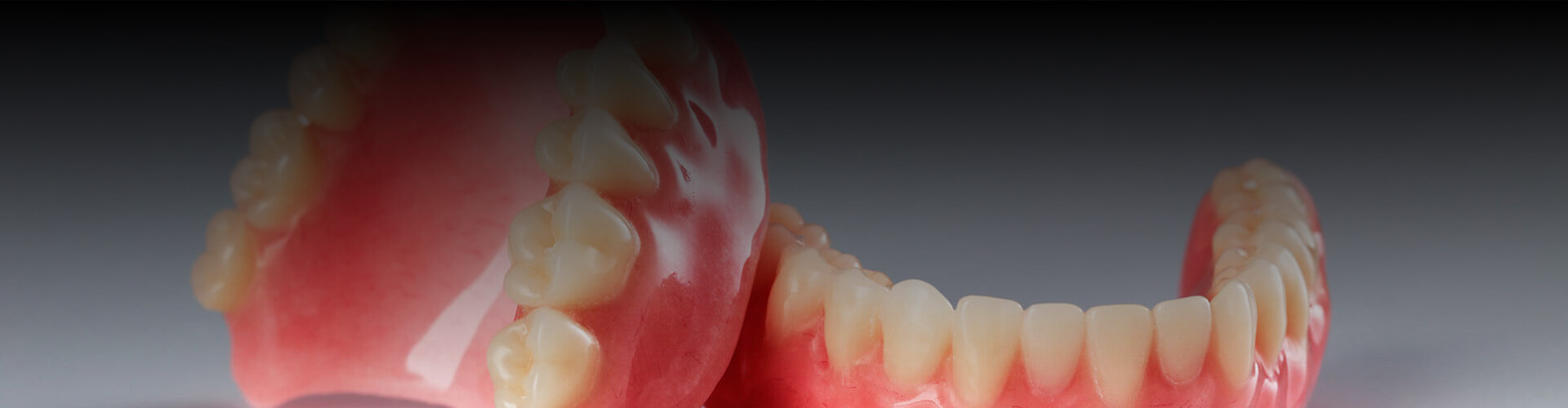 Closeup of a pair of dentures